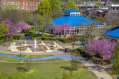 Spring Coolidge Park 2 Art Print by Tom and Pat Cory