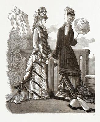 Spring Costumes, 19th Century Fashion Art Print
