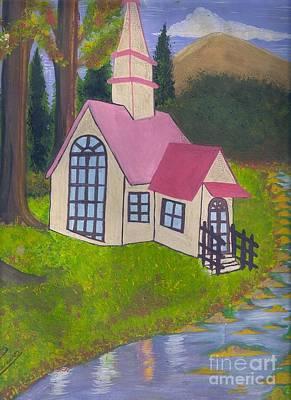 Syeda Ishrat Painting - Spring Cottage by Syeda Ishrat