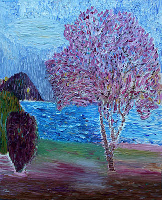 Painting - Spring Crabapple Tree by Vadim Levin