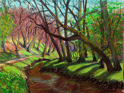 Pastel - Spring Creek by Art Nomad Sandra  Hansen