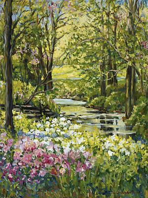 Spring Creek Rockford Il Art Print by Alexandra Maria Ethlyn Cheshire