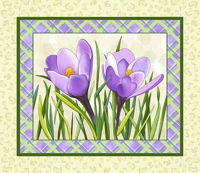 Painting - Spring Crocuses by Alison Stein