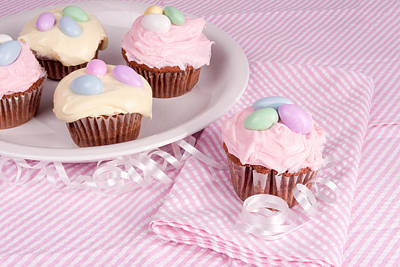 Cupcakes With A Spring Theme Art Print