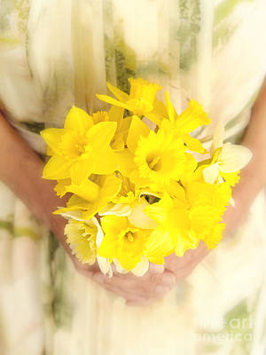 Spring Daffodils Art Print by Edward Fielding