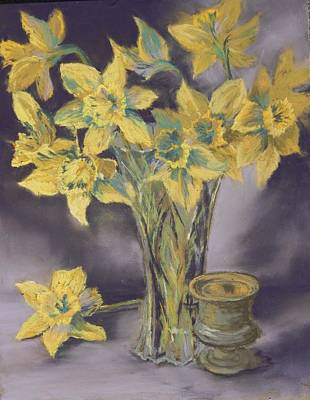 Pastel - Spring Daffodils by Marlene Kingman