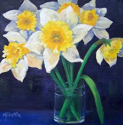 Daffodils Painting - Spring Daffodils by Maureen Ghetia
