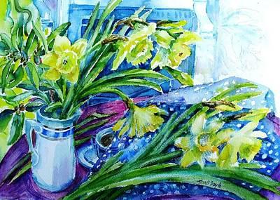 Daffodils Painting - Spring Daffodils by Trudi Doyle