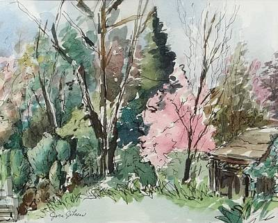 Shed Mixed Media - Spring Day by Jane Johnson
