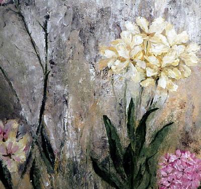 Art Print featuring the painting Spring Desert Flowers by Lisa Kaiser