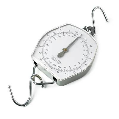 Spring Dial Weighing Scales Art Print by Science Photo Library