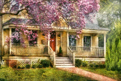 Spring - Door - Vacation House Art Print by Mike Savad