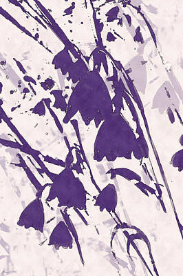 Digital Art - Spring Dream In Purple by Deborah Smith