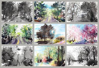 Millbury Painting - Spring Drive by Sumiyo Toribe