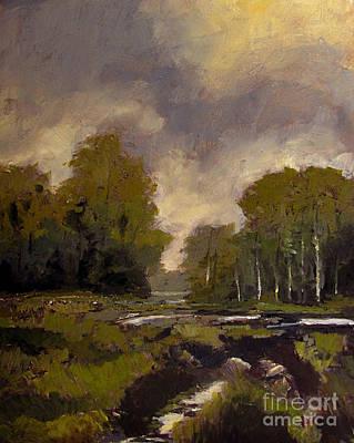 Tonalist Painting - Spring Eel Marsh by Charlie Spear