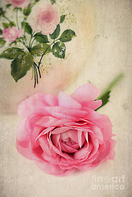 Antique Roses Vase Wall Art - Photograph - Spring Elegance by Darren Fisher