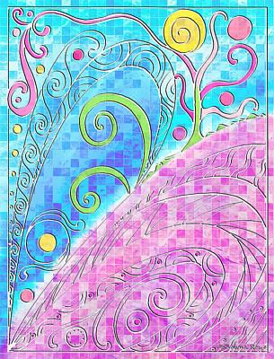 Filigree Drawing - Spring Equinox by Shawna Rowe
