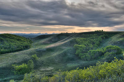 Spring Evening In The Foothills Art Print
