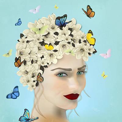Digital Art - Spring Face - Limited Edition 2 Of 15 by Gabriela Delgado