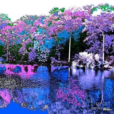 Painting - Spring Fantasy Forest Absract by Saundra Myles