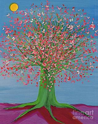 Spring Fantasy Tree By Jrr Art Print