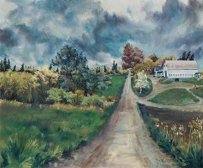 Art Print featuring the painting Spring Farm by Joy Nichols