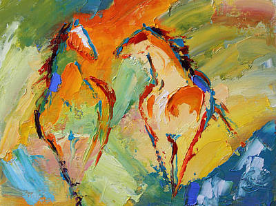 Painting - Spring Fever Horse 14 2014 by Laurie Pace