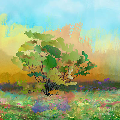 Spring Field Art Print by Bedros Awak