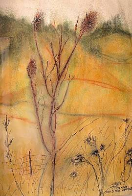 Drawing - Spring Fields by Ian  MacDonald