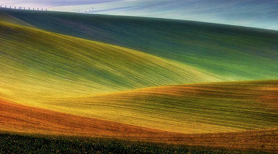 Gradients Photograph - Spring Fields by Piotr Krol (bax)