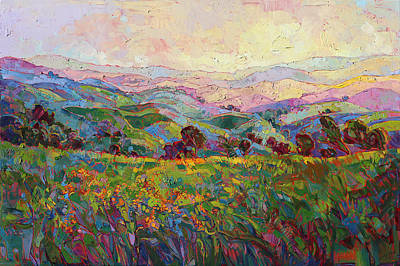 Print featuring the painting Spring Fling by Erin Hanson