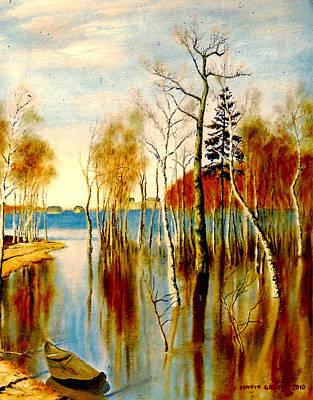 Spring Flood Art Print by Henryk Gorecki