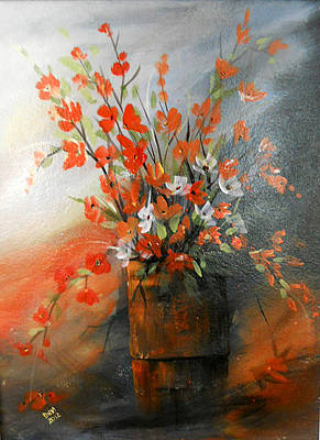 Art Print featuring the painting Spring Flower Bouquet by Dorothy Maier