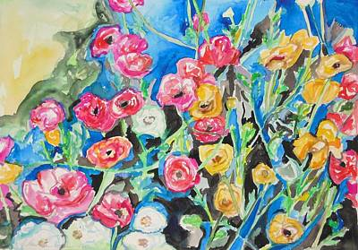 Painting - Spring Flower Follies by Esther Newman-Cohen