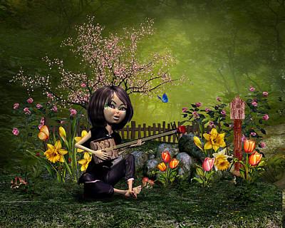 Spring Flowering Garden Original by John Junek