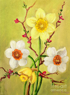 Spring Flowers 2 Art Print by Randy Burns