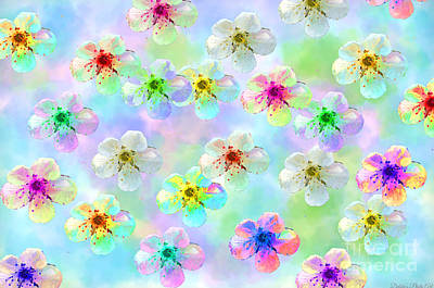 Photograph - Spring Flowers Abstract 1 by Debbie Portwood