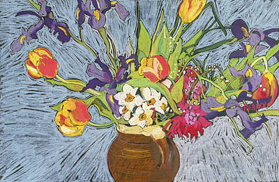 Spring Flowers Art Print by Frances Treanor