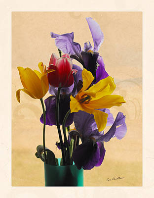 Irises Digital Art - Spring Flowers by Kae Cheatham