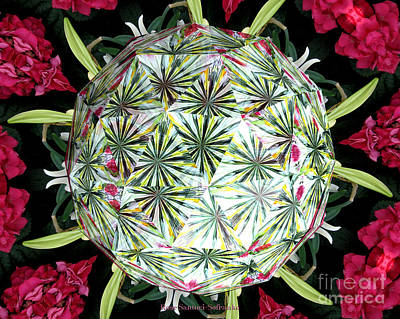 Photograph - Spring Flowers Kaleidoscope Under Glass by Rose Santuci-Sofranko