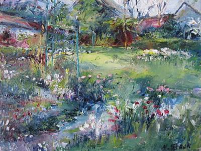 Shed Mixed Media - Spring Flowers Monets Garden by Niamh Slack