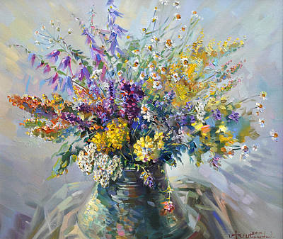 Painting - Spring Flowers Of Armenia by Meruzhan Khachatryan