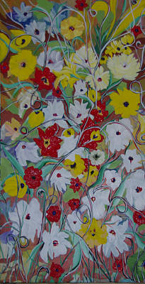 Painting - Spring Flowers by Sima Amid Wewetzer
