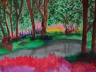 Painting - Spring Forest by Nancy Fillip