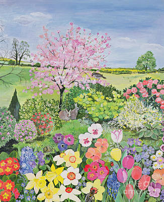 Garden Painting - Spring From The Four Seasons  by Hilary Jones