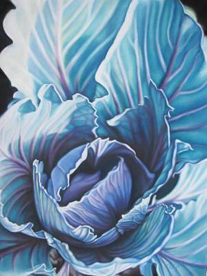 Spring Garden Cabbage Art Print