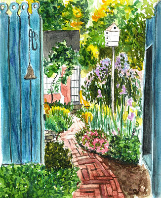 Art Print featuring the painting Spring Garden by Clara Sue Beym