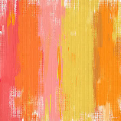 Pink And Yellow Painting - Spring Garden by Lourry Legarde