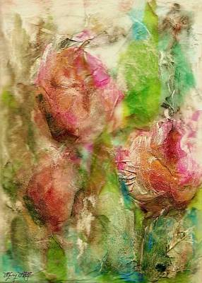 Tangerine Painting - Spring Garden  by Mary Wolf