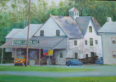 Painting - Spring Garden Mill Playhouse by Oz Freedgood